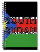 Flag Of  South Sudan Word Spiral Notebook