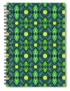 Monstera Leaves Pattern Spiral Notebook