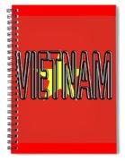 Flag Of Vietnam Word Spiral Notebook