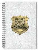 Canadian Forces Military Police C F M P  -  M P Officer Id Badge Over White Leather Spiral Notebook