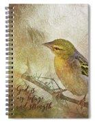 God Is My Refuge Spiral Notebook