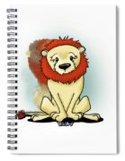 Lion Peaceful Reflection  Spiral Notebook