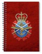 Canadian Armed Forces  -  C A F  Badge Over Red Velvet Spiral Notebook