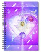 Heart Of The Violet Flame Spiral Notebook