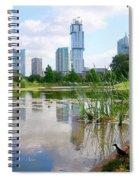 Birds Eye View Austin Under Construction Square Spiral Notebook