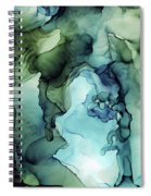 Land And Water Abstract Ink Painting Spiral Notebook