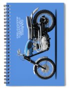 The Trophy Tr6 Sc Motorcycle Spiral Notebook