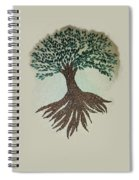 Embroidered Tree Spiral Notebook