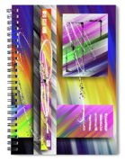 World Of Color And Superimposed Rectangles Spiral Notebook