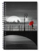 Summer Rain At The Bridge Spiral Notebook