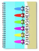 Shih Tzu Surf Jersey Spiral Notebook