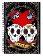 Love Skulls II Spiral Notebook