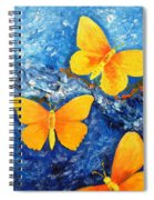 Butterfly In Blue 1 Spiral Notebook