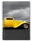 Yellow 32 Ford Deuce Coupe Spiral Notebook