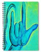 Asl I Love You Blue Spiral Notebook