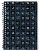 Snowflake Collage - Season 2013 Dark Crystals Spiral Notebook