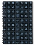 Snowflake Collage - Season 2013 Dark Crystals Spiral Notebook