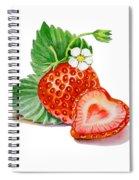 Artz Vitamins A Strawberry Heart Spiral Notebook