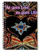 As Goes Love So Goes Life Spiral Notebook
