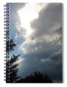 As The Clouds Move Across The Sky Spiral Notebook