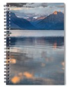 As The Day Ends At West Glacier Spiral Notebook