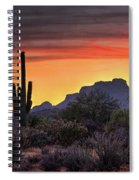 As The Sun Sets On Red Mountain  Spiral Notebook
