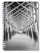 As The Water Fades Grayscale Spiral Notebook