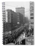 Asahel Curtis, 1874-1941, Draft Parade, Seattle Spiral Notebook