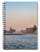 Asbury Park Boardwalk From The Beach Spiral Notebook
