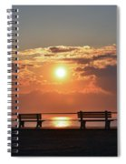 Asbury Park Boardwalk Sunrise Spiral Notebook