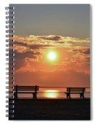 Asbury Park On The Boardwalk At Sunrise Spiral Notebook