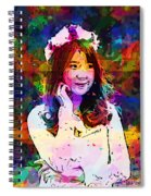 Asian Girl With Crown  Spiral Notebook