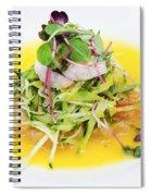 Asian Korean Fusion Fresh Prawn Salad Spiral Notebook