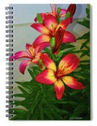 Asian Lilly Spring Time Spiral Notebook
