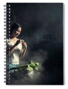 Asian People With Cooking, Living In Rural Countryside, Rural Th Spiral Notebook