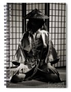 Asian Woman In Kimono Spiral Notebook