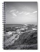 Asilomar Beach Stairway In Black And White Spiral Notebook