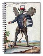 Asmodeus, King Of Demons, 18th Century Spiral Notebook