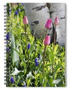 Aspen And Tulips Spiral Notebook