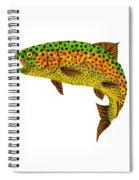 Aspen Leaf Rainbow Trout 1 Spiral Notebook