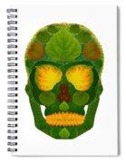 Aspen Leaf Skull 9 Spiral Notebook