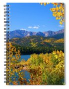Aspen On Pikes Peak And Crystal Reservoir Spiral Notebook