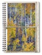 Aspen Tree Magic Cottonwood Pass White Farm House Window Art Spiral Notebook