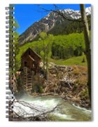 Aspens Around The Crystal Mill Spiral Notebook