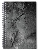 Asphalt-water-tree Abstract Refection 03 Spiral Notebook
