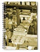Aspirin In Sepia Spiral Notebook