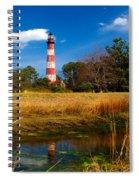 Assateague Lighthouse Reflection Spiral Notebook