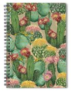 Assorted Blooming Cactus Plants Spiral Notebook