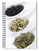 Assortment Of Dry Tea Leaves In Spoons Spiral Notebook