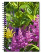Astilbe In The Garden Spiral Notebook